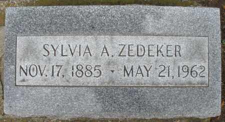 ZEDEKER, SYLVIA A. - Montgomery County, Ohio | SYLVIA A. ZEDEKER - Ohio Gravestone Photos
