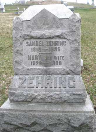 ZEHRING, MARY - Montgomery County, Ohio | MARY ZEHRING - Ohio Gravestone Photos