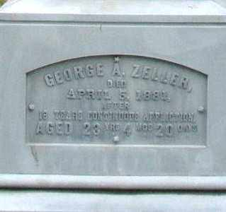ZELLER, GEORGE A. - Montgomery County, Ohio | GEORGE A. ZELLER - Ohio Gravestone Photos