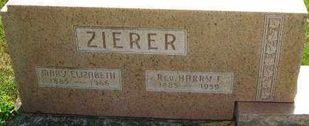 ZIERER, HARRY - Montgomery County, Ohio | HARRY ZIERER - Ohio Gravestone Photos
