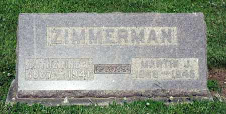 ZIMMERMAN, CATHERINE E. - Montgomery County, Ohio | CATHERINE E. ZIMMERMAN - Ohio Gravestone Photos