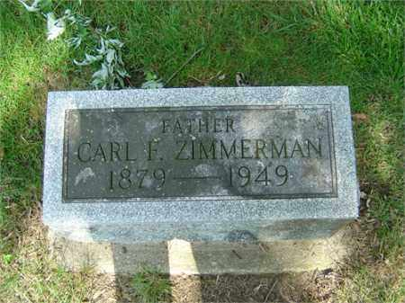 ZIMMERMAN, CARL F. - Montgomery County, Ohio | CARL F. ZIMMERMAN - Ohio Gravestone Photos