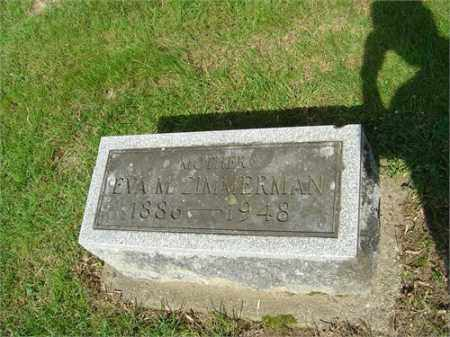 DAVIS ZIMMERMAN, EVA - Montgomery County, Ohio | EVA DAVIS ZIMMERMAN - Ohio Gravestone Photos