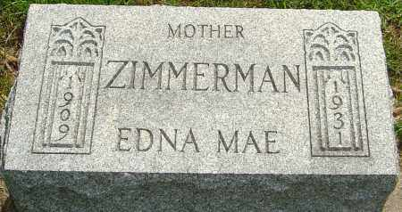 ZIMMERMAN, EDNA MAE - Montgomery County, Ohio | EDNA MAE ZIMMERMAN - Ohio Gravestone Photos