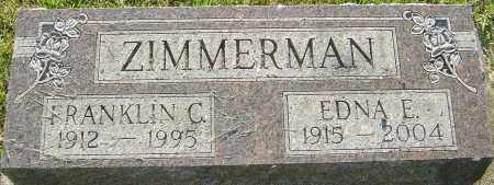 ZIMMERMAN, EDNA - Montgomery County, Ohio | EDNA ZIMMERMAN - Ohio Gravestone Photos