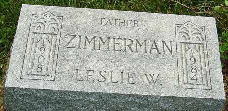 ZIMMERMAN, LESLIE - Montgomery County, Ohio | LESLIE ZIMMERMAN - Ohio Gravestone Photos