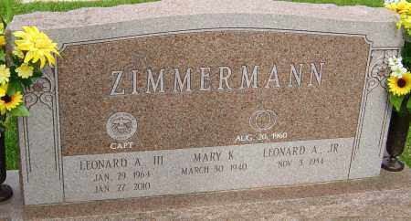 ZIMMERMAN, LEONARD A - Montgomery County, Ohio | LEONARD A ZIMMERMAN - Ohio Gravestone Photos