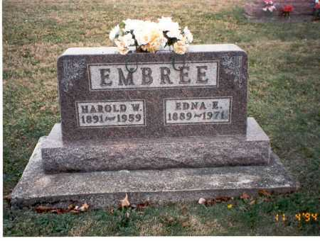 EMBREE, EDNA E. - Morgan County, Ohio | EDNA E. EMBREE - Ohio Gravestone Photos