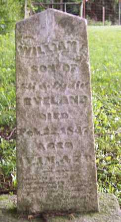 EVELAND, WILLIAM - Morgan County, Ohio | WILLIAM EVELAND - Ohio Gravestone Photos