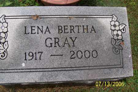 GRAY, LENA - Morgan County, Ohio | LENA GRAY - Ohio Gravestone Photos