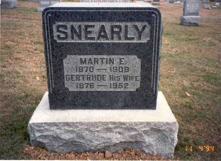 SNEARLY, MARTIN E. - Morgan County, Ohio | MARTIN E. SNEARLY - Ohio Gravestone Photos