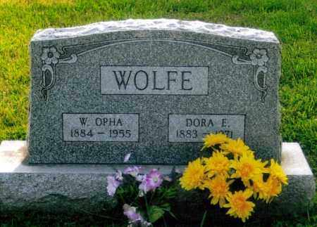 BUSH WOLFE, DORA EVILINE - Morgan County, Ohio | DORA EVILINE BUSH WOLFE - Ohio Gravestone Photos