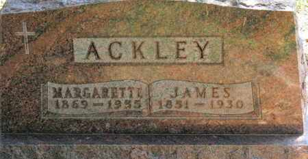 ACKLEY, JAMES - Morrow County, Ohio | JAMES ACKLEY - Ohio Gravestone Photos