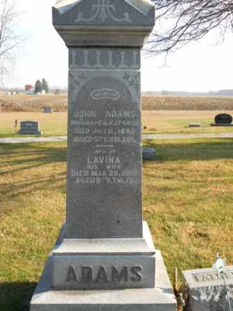 ADAMS, LAVINA - Morrow County, Ohio | LAVINA ADAMS - Ohio Gravestone Photos