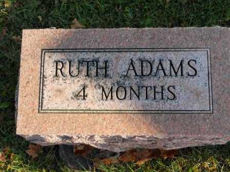 ADAMS, RUTH - Morrow County, Ohio | RUTH ADAMS - Ohio Gravestone Photos