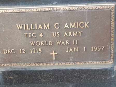 AMICK, WILLIAM C - Morrow County, Ohio | WILLIAM C AMICK - Ohio Gravestone Photos