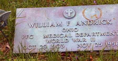ANDRICK, WILLIAM F. - Morrow County, Ohio | WILLIAM F. ANDRICK - Ohio Gravestone Photos