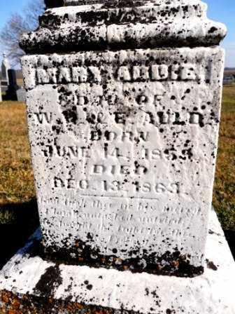 AULD, MARY ADDIE - Morrow County, Ohio | MARY ADDIE AULD - Ohio Gravestone Photos