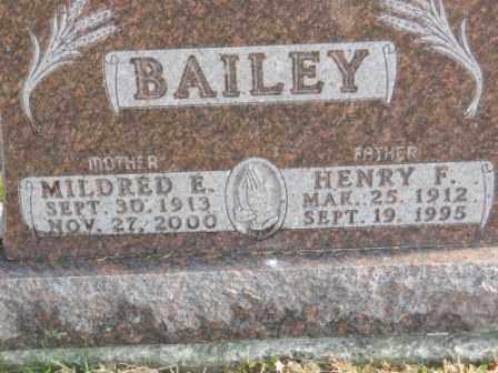 BAILEY, MILDRED E - Morrow County, Ohio | MILDRED E BAILEY - Ohio Gravestone Photos