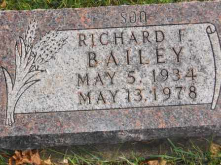 BAILEY, RICHARD F - Morrow County, Ohio | RICHARD F BAILEY - Ohio Gravestone Photos