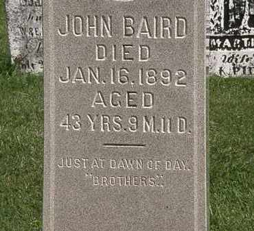 BAIRD, JOHN - Morrow County, Ohio | JOHN BAIRD - Ohio Gravestone Photos