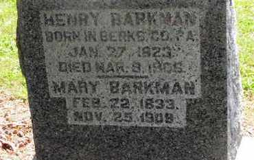 BARKMAN, MARY - Morrow County, Ohio | MARY BARKMAN - Ohio Gravestone Photos