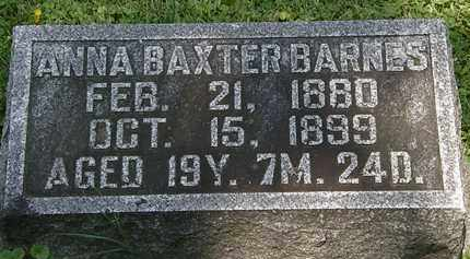 BAXTER BARNES, ANNA - Morrow County, Ohio | ANNA BAXTER BARNES - Ohio Gravestone Photos