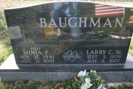 BAUGHMAN, MINIA POLLY - Morrow County, Ohio | MINIA POLLY BAUGHMAN - Ohio Gravestone Photos
