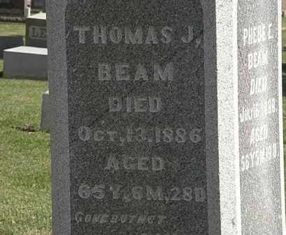 BEAM, THOMAS J. - Morrow County, Ohio | THOMAS J. BEAM - Ohio Gravestone Photos