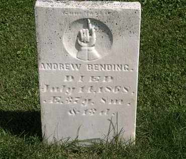 BENDING, ANDREW - Morrow County, Ohio | ANDREW BENDING - Ohio Gravestone Photos