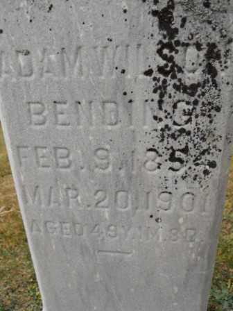 BENDING, ADAM WILSON - Morrow County, Ohio | ADAM WILSON BENDING - Ohio Gravestone Photos