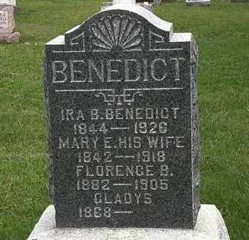 BENEDICT, MARY E. - Morrow County, Ohio | MARY E. BENEDICT - Ohio Gravestone Photos