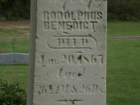BENEDICT, RODOLPHUS - Morrow County, Ohio | RODOLPHUS BENEDICT - Ohio Gravestone Photos