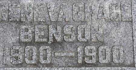 BENSON, GENEVA GRACE - Morrow County, Ohio | GENEVA GRACE BENSON - Ohio Gravestone Photos