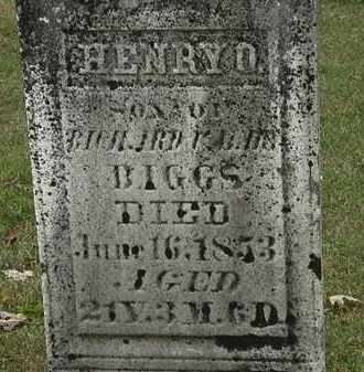 BIGGS, HENRY O. - Morrow County, Ohio | HENRY O. BIGGS - Ohio Gravestone Photos