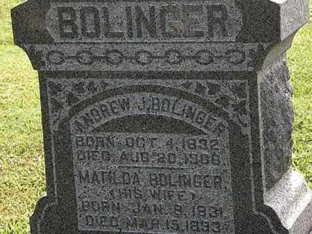 BOLINGER, ANDREW - Morrow County, Ohio | ANDREW BOLINGER - Ohio Gravestone Photos