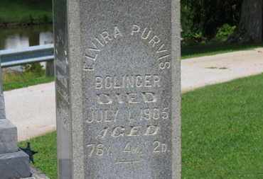 PURVIS BOLINGER, ELVIRA - Morrow County, Ohio | ELVIRA PURVIS BOLINGER - Ohio Gravestone Photos