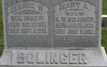 BOLINGER, MARY A. - Morrow County, Ohio | MARY A. BOLINGER - Ohio Gravestone Photos