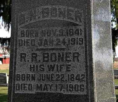BONER, R.R. - Morrow County, Ohio | R.R. BONER - Ohio Gravestone Photos