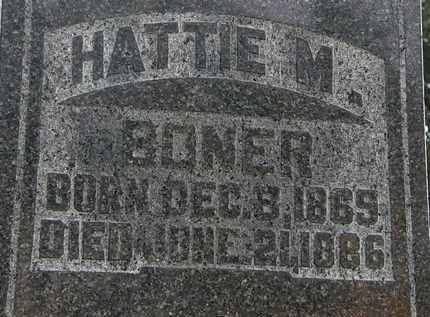 BONER, HATTIE M. - Morrow County, Ohio | HATTIE M. BONER - Ohio Gravestone Photos
