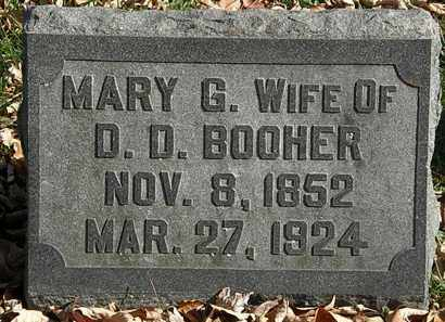 BOOHER, MARY G. - Morrow County, Ohio | MARY G. BOOHER - Ohio Gravestone Photos