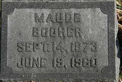 BOOHER, MAUDE - Morrow County, Ohio | MAUDE BOOHER - Ohio Gravestone Photos