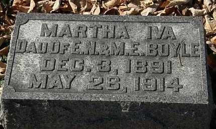 BOYLE, MARTHA IVA - Morrow County, Ohio | MARTHA IVA BOYLE - Ohio Gravestone Photos