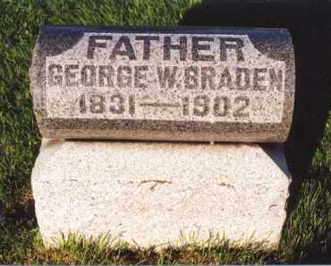 BRADEN, GEORGE W - Morrow County, Ohio | GEORGE W BRADEN - Ohio Gravestone Photos