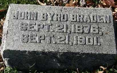 BRADEN, JOHN BYRD - Morrow County, Ohio | JOHN BYRD BRADEN - Ohio Gravestone Photos