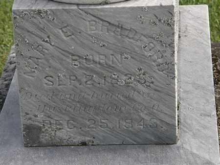 BRADFORD, MARY E. - Morrow County, Ohio | MARY E. BRADFORD - Ohio Gravestone Photos