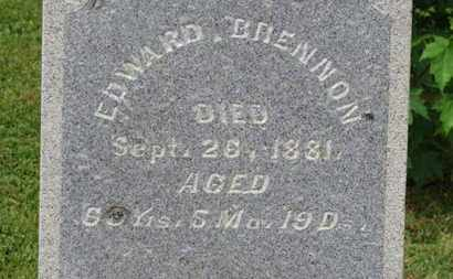 BRENNON, EDWARD - Morrow County, Ohio | EDWARD BRENNON - Ohio Gravestone Photos