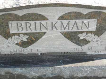 BRINKMAN, LOIS M - Morrow County, Ohio | LOIS M BRINKMAN - Ohio Gravestone Photos