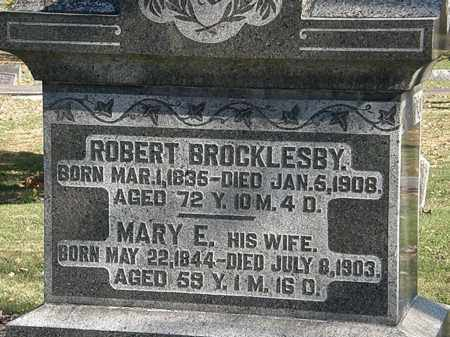BROCKLESBY, MARY E. - Morrow County, Ohio | MARY E. BROCKLESBY - Ohio Gravestone Photos