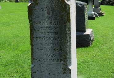 BROCKWAY, HANNAH - Morrow County, Ohio   HANNAH BROCKWAY - Ohio Gravestone Photos